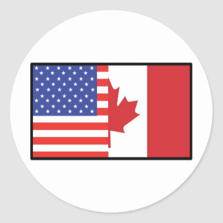 America Canada Classic Round Sticker