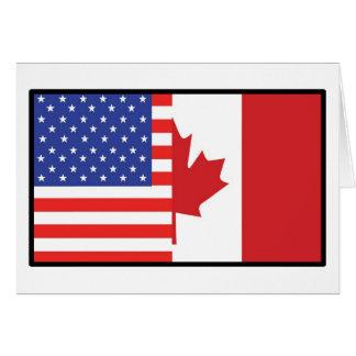 America Canada Greeting Card
