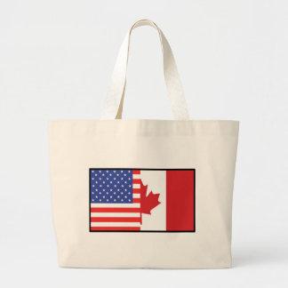 America Canada Jumbo Tote Bag