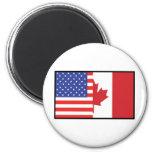 America Canada Magnets