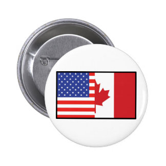 América Canadá Pin Redondo De 2 Pulgadas