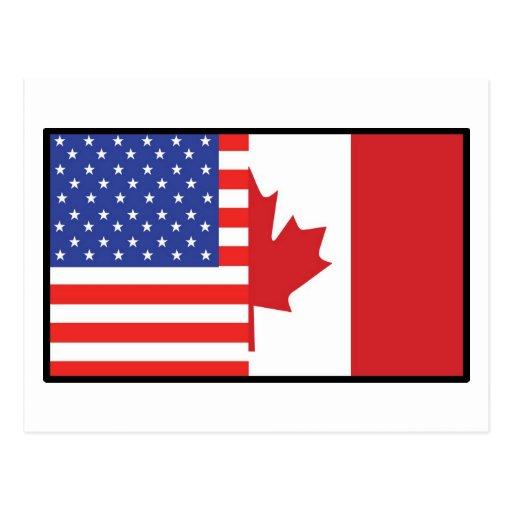 America Canada Postcard
