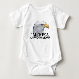 America CAW CAW eagle humor T Shirts.png Baby Bodysuit