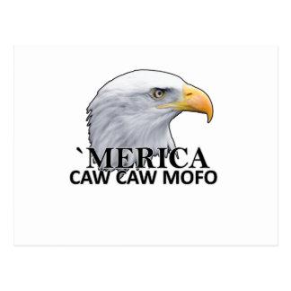 America CAW CAW eagle humor T Shirts.png Postcard