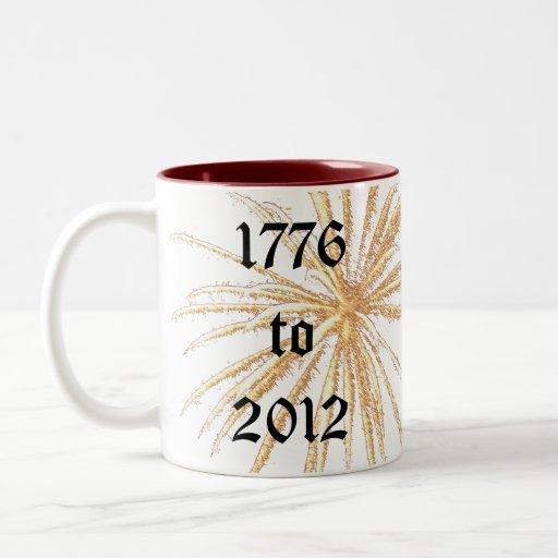 América celebra los fuegos artificiales 4tos de la taza dos tonos