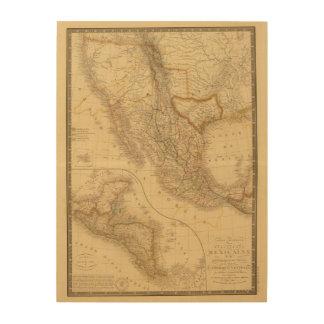 America Central Impresión En Madera