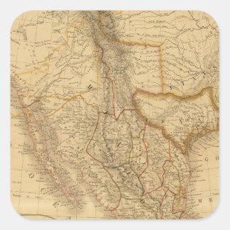 America Central Pegatina Cuadrada