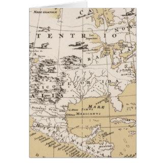 América, cerca de 1670 tarjeta de felicitación
