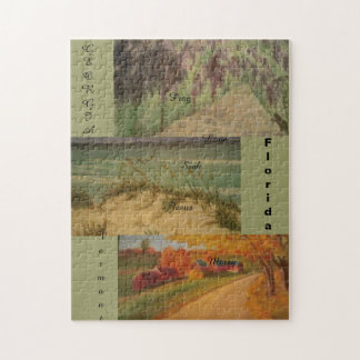 America christian art puzzle-VT,FL,GA Jigsaw Puzzles