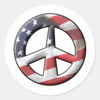 America Classic Round Sticker