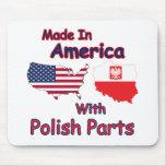 América con las piezas polacas tapete de ratones