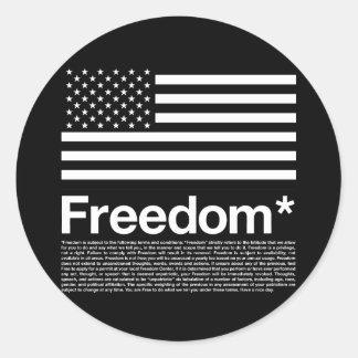 América: Condiciones de la libertad Pegatina Redonda