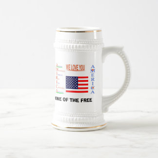 AMERICA copy, AMERICA copy, 4 OF JULY 2, 4 OF J... Beer Stein