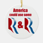 AMERICA COULD USE SOME R AND R -.png Double-Sided Ceramic Round Christmas Ornament