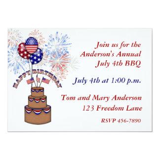 América cumpleaños invitación del 4 de julio