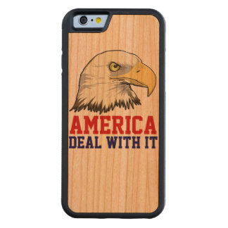 AMERICA DEAL WITH IT WOOD CASE