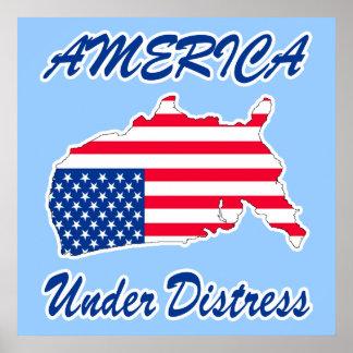 América debajo del poster/de la impresión de la de