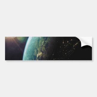 América del espacio a partir del día a la noche pegatina para auto