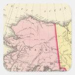 América del noroeste calcomanías cuadradass