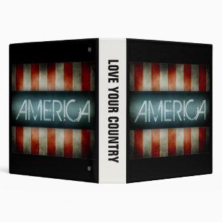 America Design 3 Ring Binder