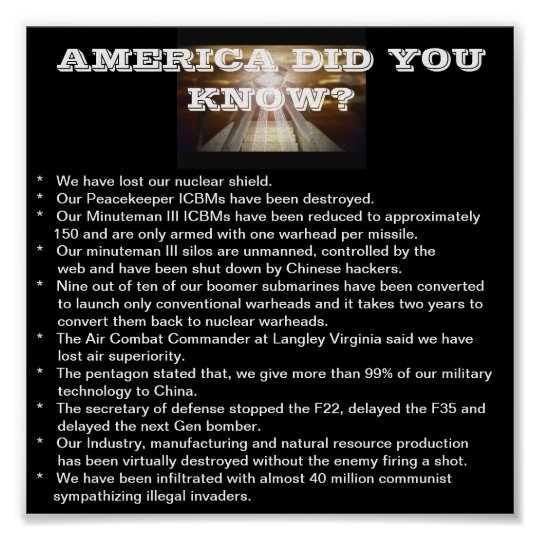 AMERICA DID YOU KNOW? POSTER
