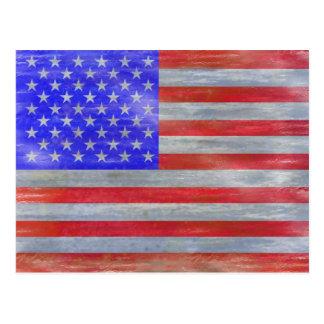 America distressed American USA flag Postcard