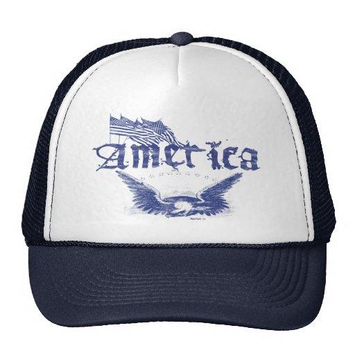 America Eagle 1 Blue Hat