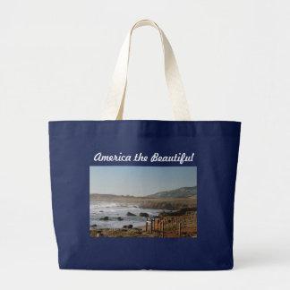 América el bolso hermoso bolsa de tela grande