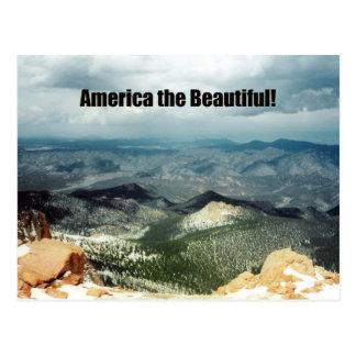 América el hermoso postal