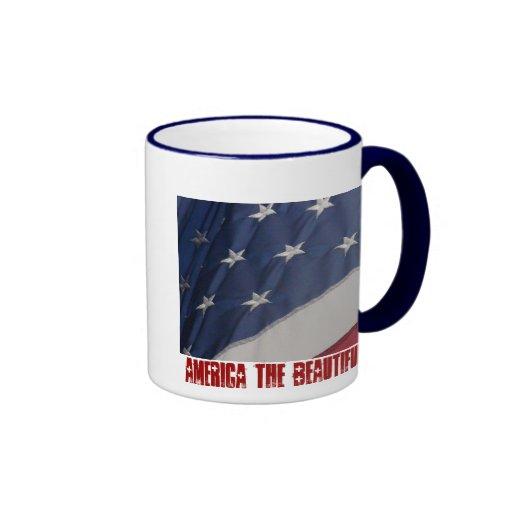 América el hermoso tazas de café