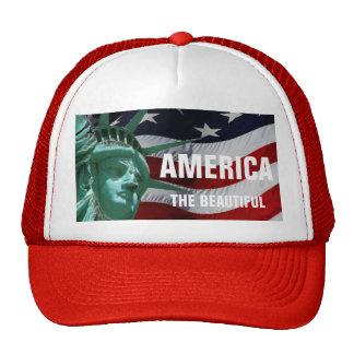 América el hermoso y las estrellas y las rayas gorros bordados