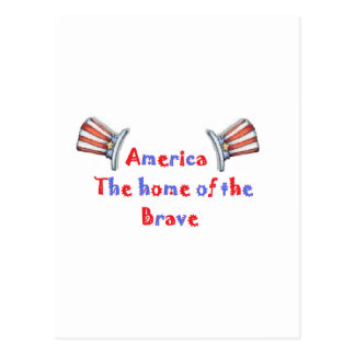 América el hogar del valiente tarjeta postal