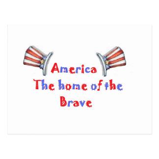 América el hogar del valiente postales