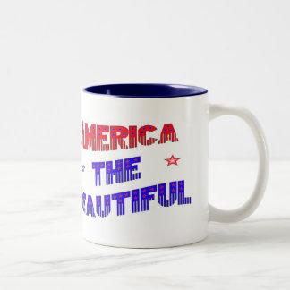 América el ~Mug~ hermoso Taza De Dos Tonos