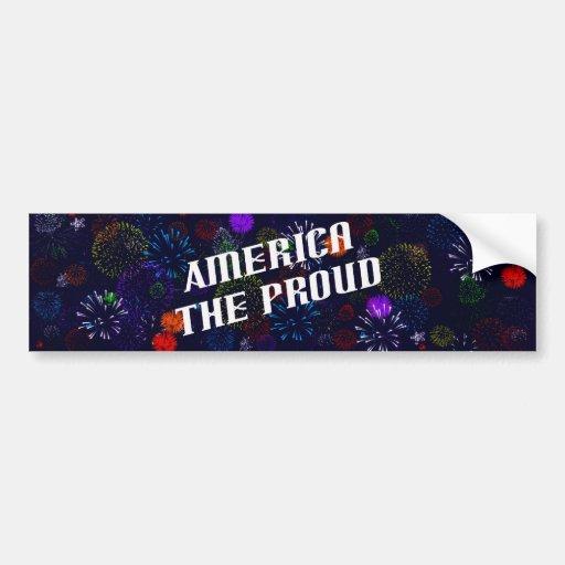 América el orgulloso pegatina para auto