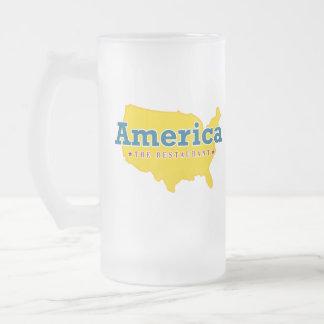 América El restaurante - taza del vidrio esmerila
