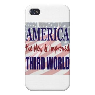 América el TERCER MUNDO nuevo y mejorado iPhone 4/4S Fundas