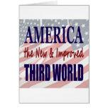 América el TERCER MUNDO nuevo y mejorado Tarjeta