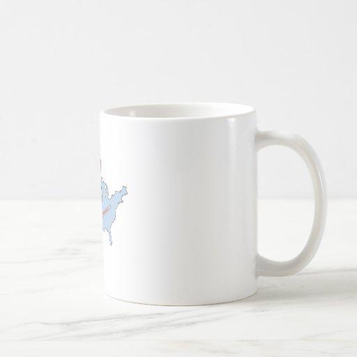 América enferma taza de café
