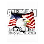 América es el número 1 tarjetas postales