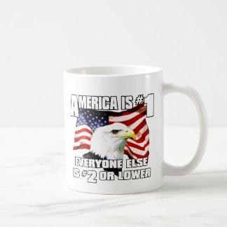 América es el número 1 tazas