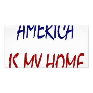 América es mi hogar tarjeta fotográfica personalizada