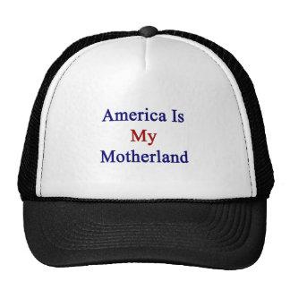 América es mi patria gorros bordados