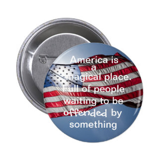 América es un lugar mágico pin redondo 5 cm
