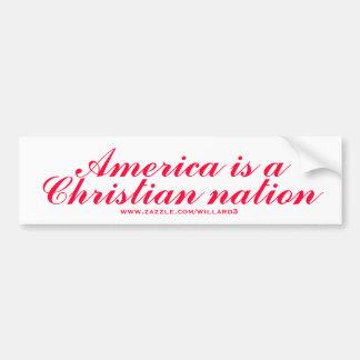 América es una nación cristiana pegatina de parachoque