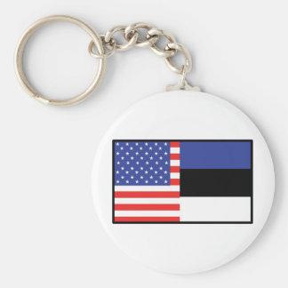 America Estonia Keychain