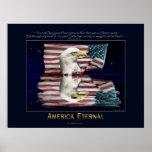 AMERICA, ETERNAL Patriotic Poster
