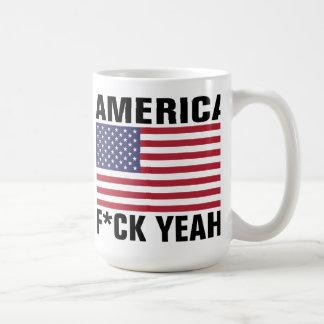 ¡América, F*ck sí! Divertido Taza Clásica
