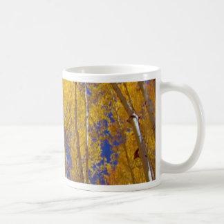 America Fall Season Photography of Trees Classic White Coffee Mug