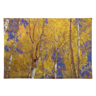 America Fall Season Photography of Trees Placemat